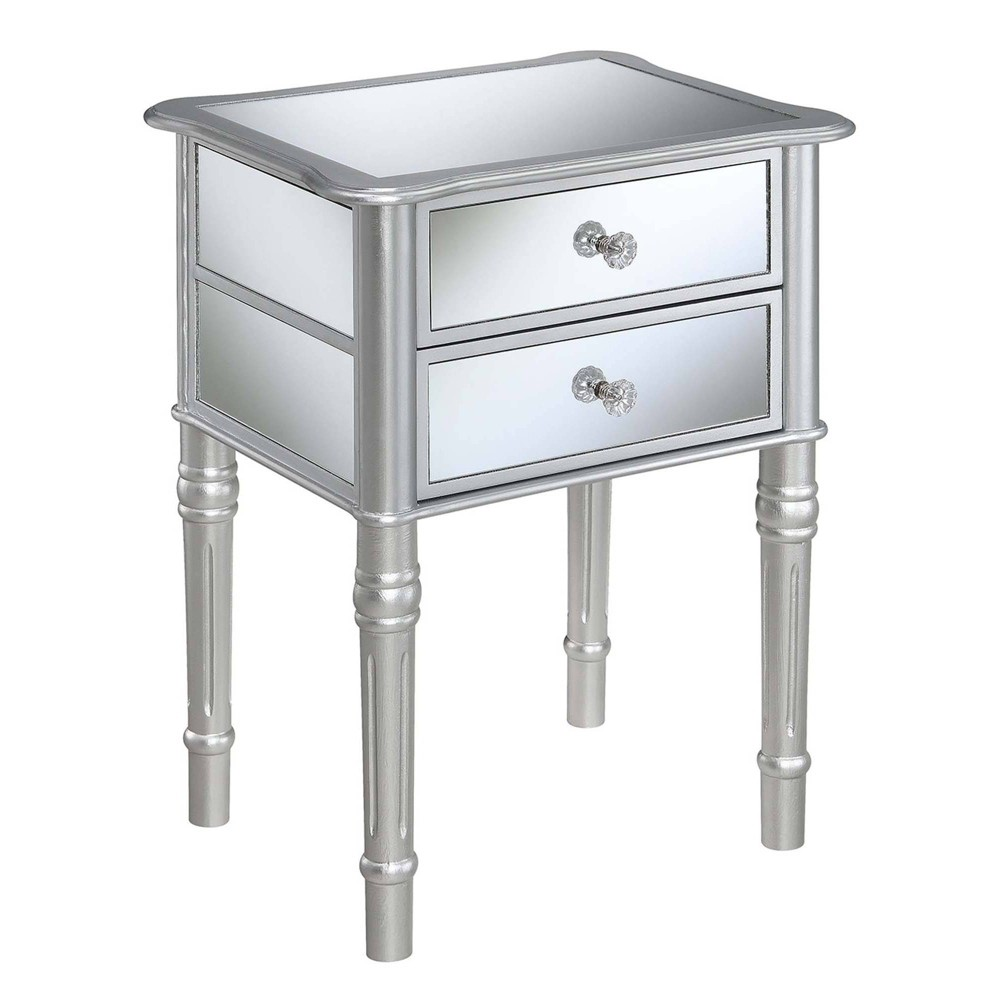 Gold Coast Mayfair End Table Silver/Mirror - Breighton Home from Breighton Home