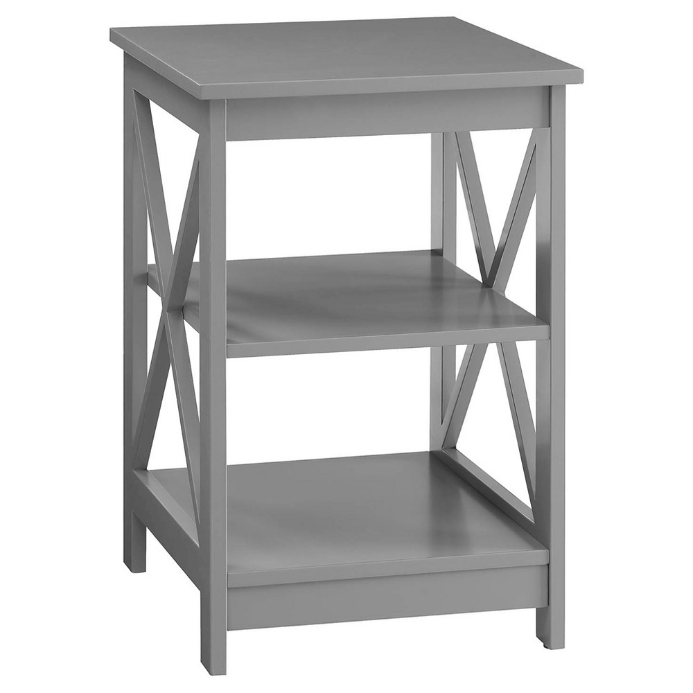 Oxford End Table Gray - Breighton Home from Breighton Home