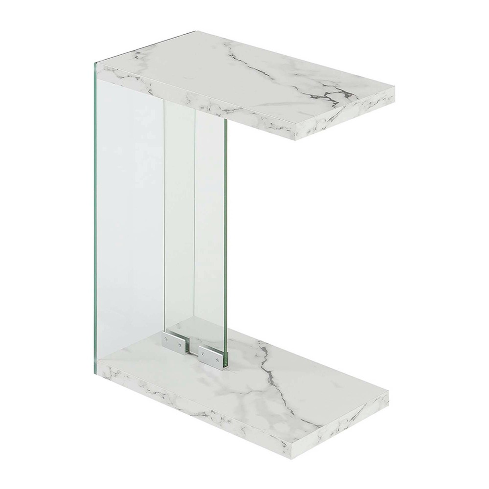 Soho C End Table White Faux Marble - Breighton Home from Breighton Home