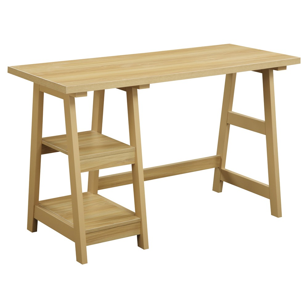 Trestle Desk Light Oak - Breighton Home from Breighton Home