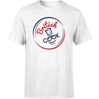 British Cook Circle Logo Men's T-Shirt - White - L - White from British Cook