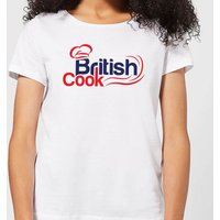 British Cook Red Women's T-Shirt - White - L - White from British Cook