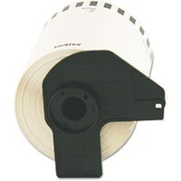 "Continuous Length Shipping Label Tape for QL-1050, 4"" x 100 ft Roll, White from Brother"