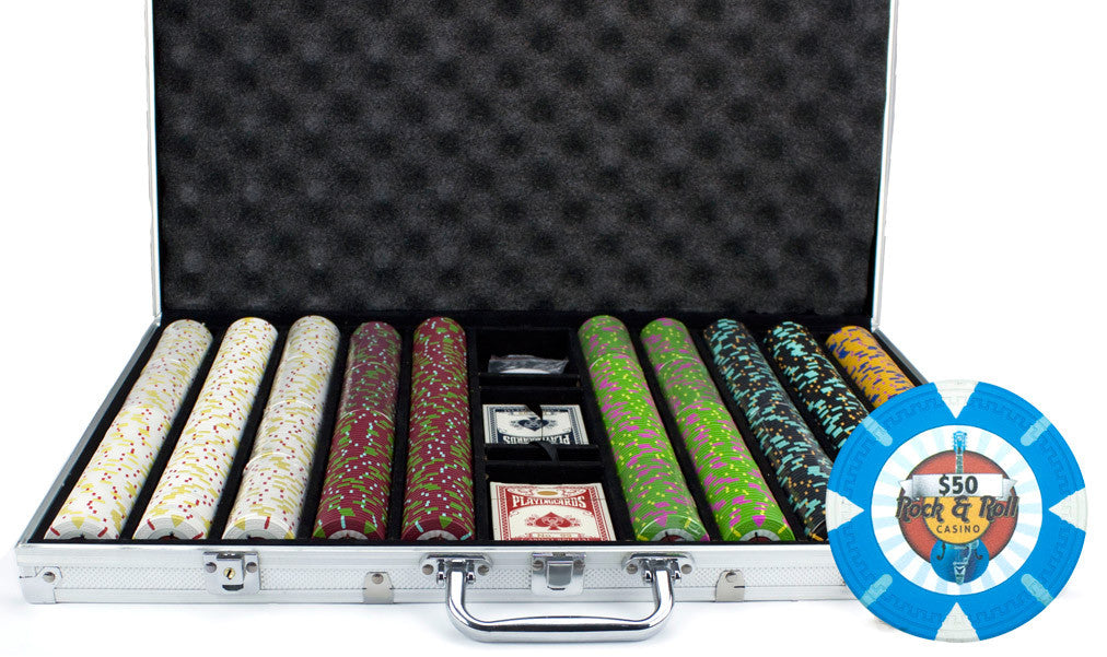 Brybelly CSRR-1000AL 1000Ct Claysmith Gaming 'Rock & Roll' Chip Set in Aluminum from Brybelly