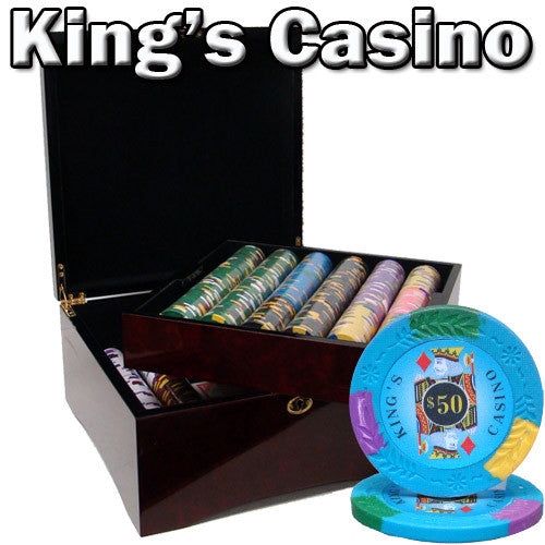 Brybelly PCS-0605M 750 Ct - Pre-Packaged - Kings Casino 14 G - Mahogany Case from Brybelly