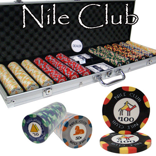 Brybelly PCS-1204C 600 Ct Custom Breakout Nile Club Chip Set - Aluminum Case from Brybelly