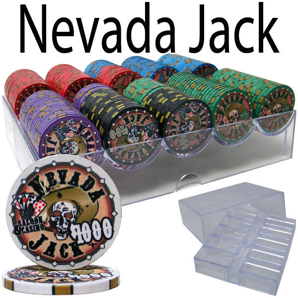 Brybelly PCS-2501A Pre-Packaged - 200 Ct Nevada Jack 10 G Chip Set Acrylic Tray from Brybelly