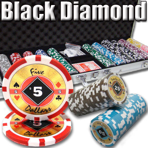 Brybelly PSC-0304C 600 Ct. Black Diamond Poker Chip 14g Custom Breakout W/ Case from Brybelly