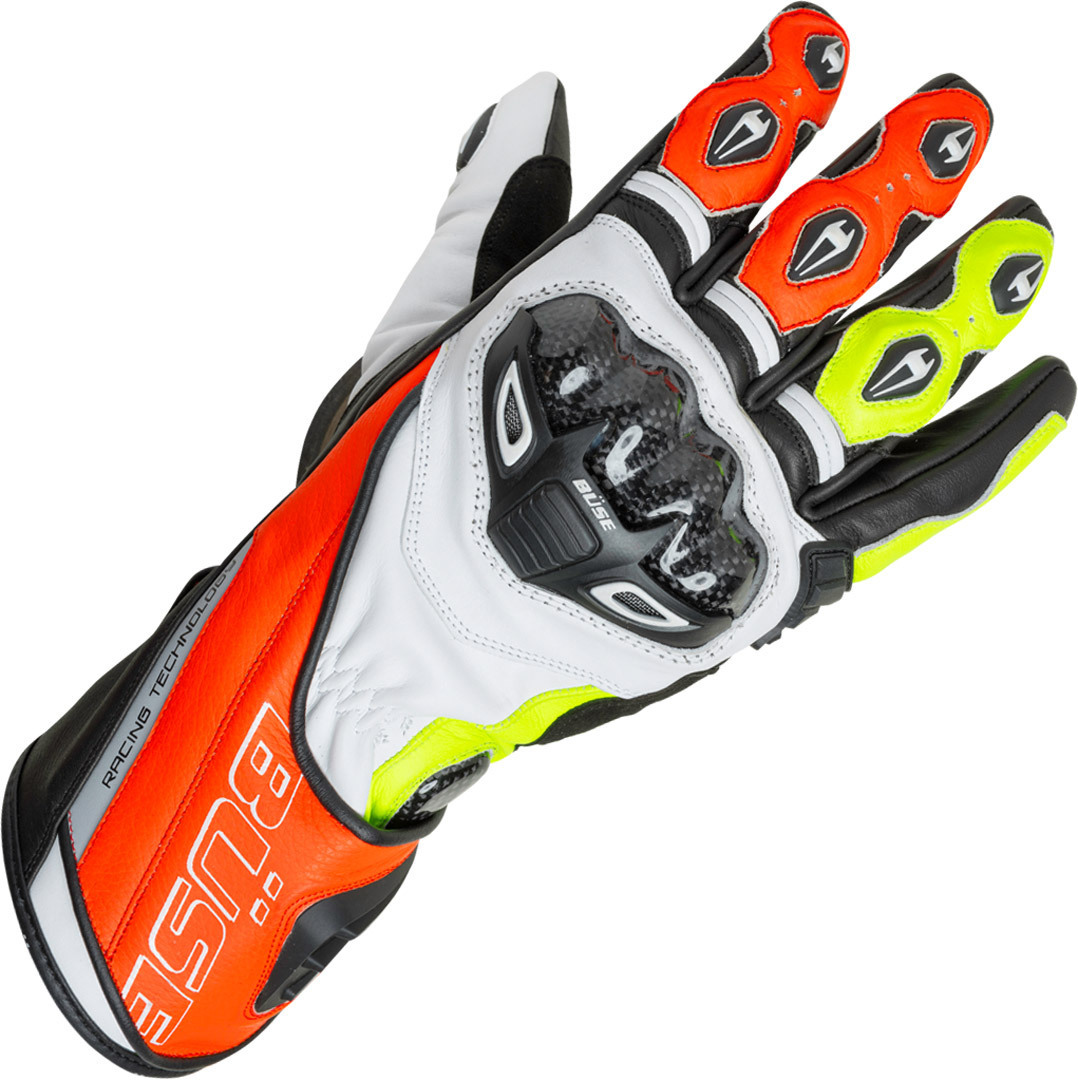 Büse Donington Pro Gloves, white-red-yellow, Size L, white-red-yellow, Size L from Büse