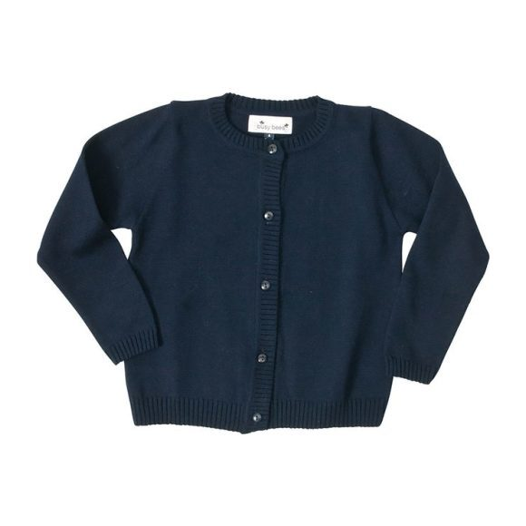 Busy Bees Classic Cardigan Sweater, (Navy Blue, Size 5Y) Maisonette from Busy Bees