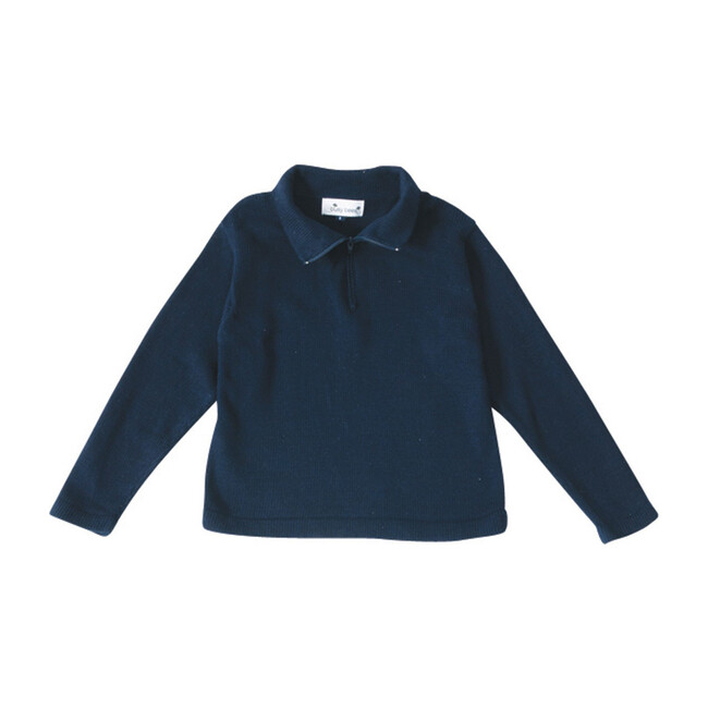 Busy Bees Cotton Zip Sweater, (Navy Blue, Size 7Y) Maisonette from Busy Bees