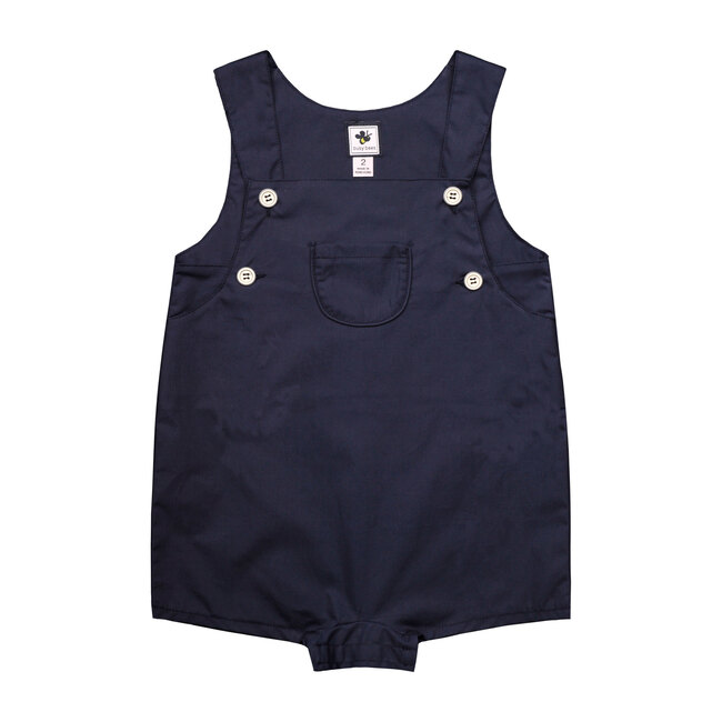 Busy Bees George Infant And Toddler Romper, (Navy Blue Cotton Poplin, Size 12M) Maisonette from Busy Bees