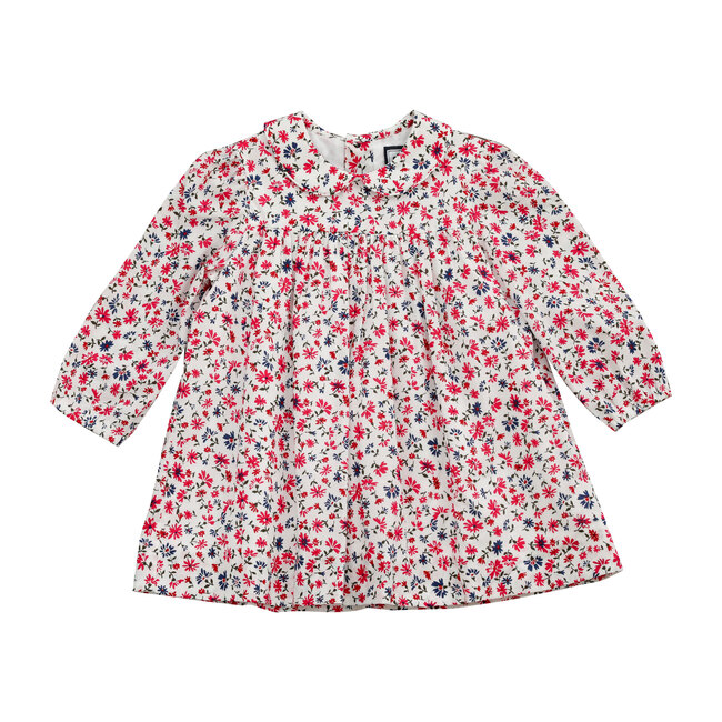 Busy Bees Ginny Peter Pan Collar Dress, Winter Floral (Prints, Size 18M) Maisonette from Busy Bees