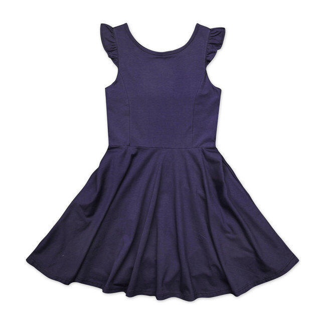 Busy Bees Hayden Dress, (Navy Blue Knit, Size 8Y) Maisonette from Busy Bees