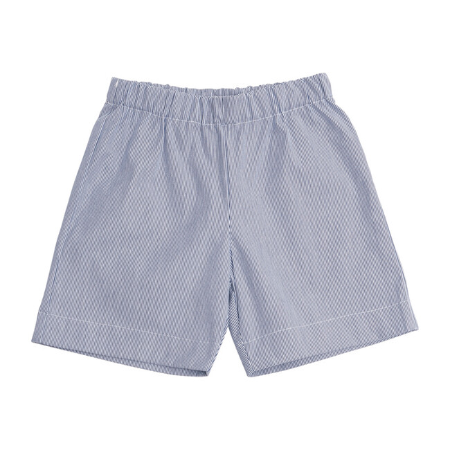 Busy Bees JD Pull-On Shorts, Seersucker (Blue, Size 12M) Maisonette from Busy Bees