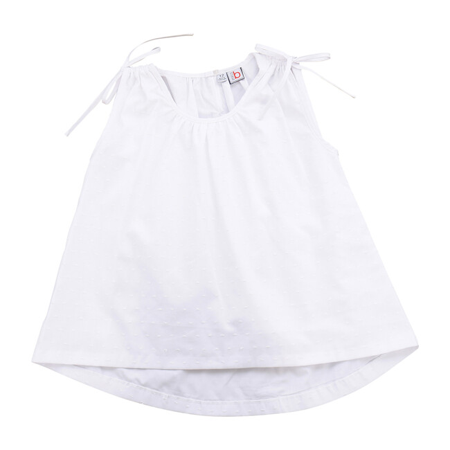 Busy Bees Jasmine Sleeveless Top, (White Swiss Dot, Size 7Y) Maisonette from Busy Bees