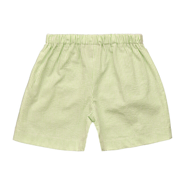 Busy Bees Jd Pull On Shorts, (Green Seersucker Stripe, Size 18M) Maisonette from Busy Bees