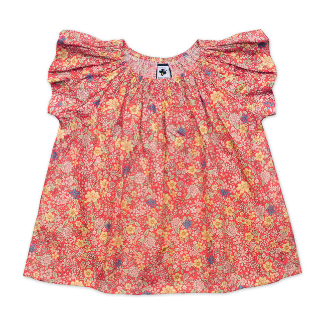 Busy Bees Molly Smocked Top, Summer Floral (Florals, Size 8Y) Maisonette from Busy Bees