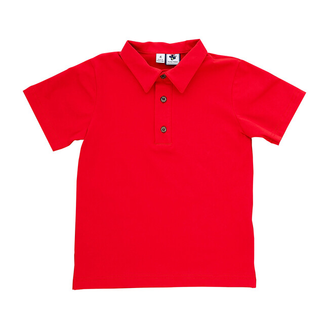 Busy Bees Polo Shirt, (Red Knit, Size 24M) Maisonette from Busy Bees