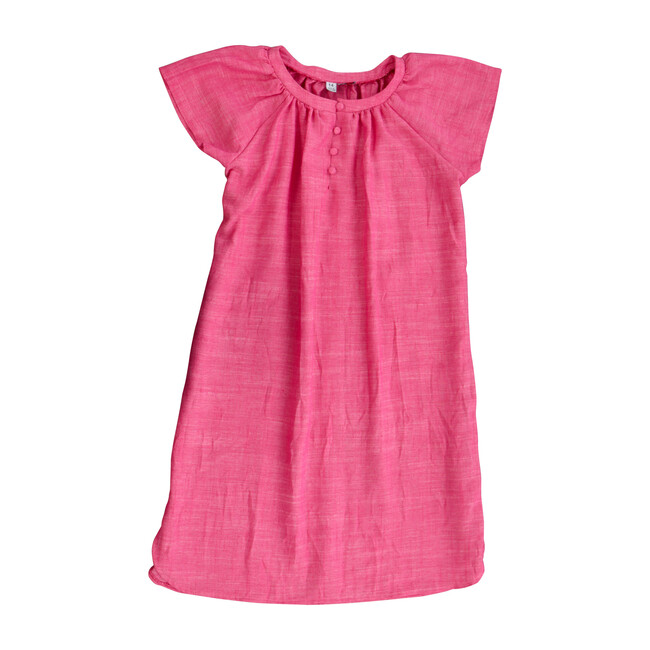 Busy Bees Poppy Shirtdress, (Pink Chambray, Size 14Y) Maisonette from Busy Bees