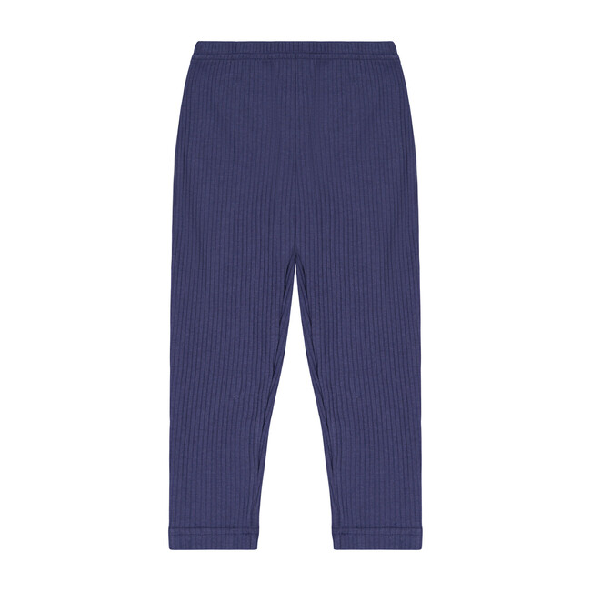 Busy Bees Ribbed Knit Leggings, (Navy Blue, Size 4Y) Maisonette from Busy Bees