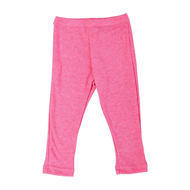 Busy Bees Ribbed Leggings, (Pink, Size 3Y) Maisonette from Busy Bees