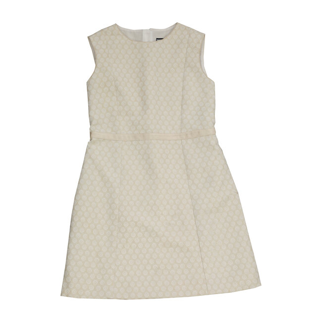 Busy Bees Victoria A Line Shift Dress, Gold Damask (Multicolor, Size 14Y) Maisonette from Busy Bees
