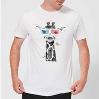 3D Giraffe Men's T-Shirt - White - XL - White from ByIWOOT