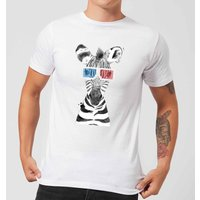 3D Zebra Men's T-Shirt - White - 5XL - White from ByIWOOT