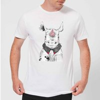 Clown Rhino Men's T-Shirt - White - L - White from ByIWOOT