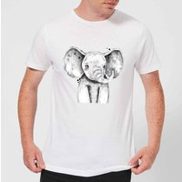 Cute Elephant Men's T-Shirt - White - XXL - White from ByIWOOT