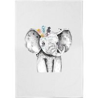 Indie Elephant Cotton Tea Towel from ByIWOOT