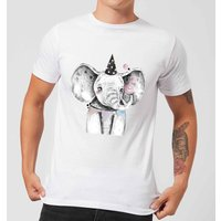 Party Elephant Men's T-Shirt - White - L - White from ByIWOOT