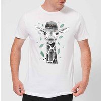 Rainbow Giraffe Men's T-Shirt - White - 5XL - White from ByIWOOT