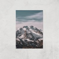 Snowy Mountain Giclee Art Print - A2 - Print Only from ByIWOOT