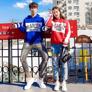 Couple Matching Lettering Hoodie from CASSY