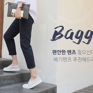 Band-Waist Baggy Pants from CLICK