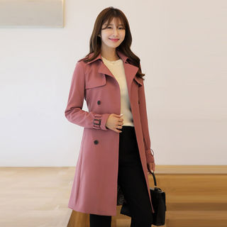 Belted Double-Breasted Trench Coat from CLICK