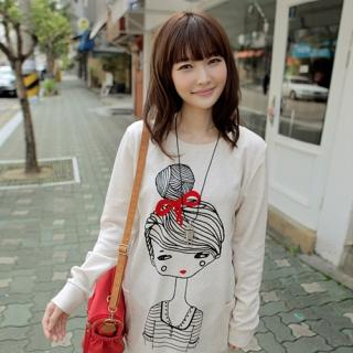 Doll-Print Pullover from CLICK