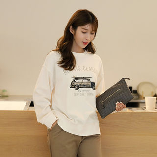 Drop-Shoulder Printed Pullover from CLICK