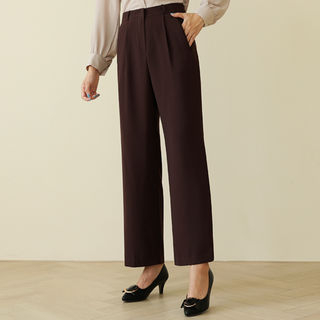 Flat-Front Wide-Leg Dress Pants from CLICK