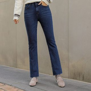 Fleece-Lined Boot-Cut Jeans from CLICK