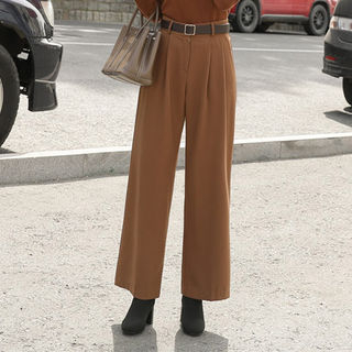 Pleated Wide-Leg Dress Pants from CLICK