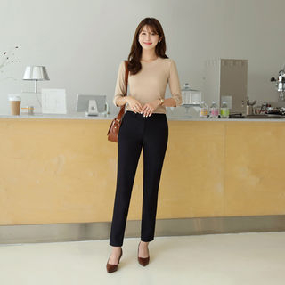 Straight-Cut Dress Pants from CLICK