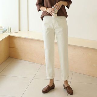 Wide Straight-Cut Pants from CLICK