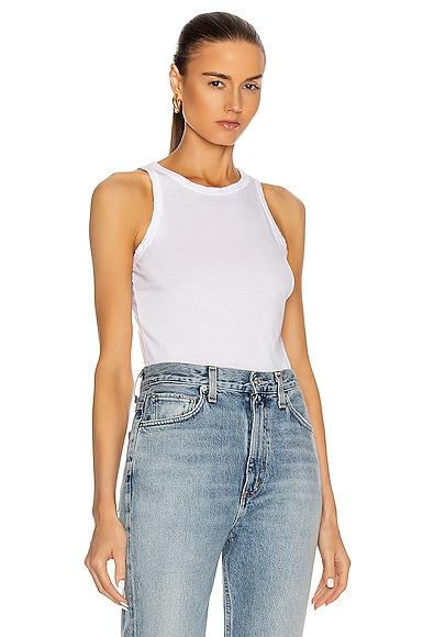 COTTON CITIZEN Standard Tank Top in White from COTTON CITIZEN