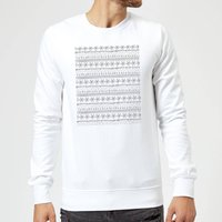 Candlelight Winter Pattern Sweatshirt - White - L - White from Candlelight