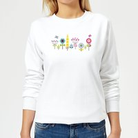 Childish Flowers 1 Women's Sweatshirt - White - L - White from Candlelight