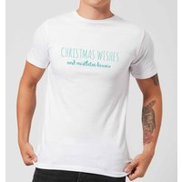 Christmas Wishes Men's T-Shirt - White - 5XL - White from Candlelight