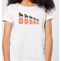 Day Time Geisha Russian Doll Women's T-Shirt - White - XL - White from Candlelight